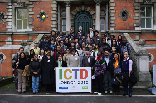 Scholars attending the ICTD2010 conference